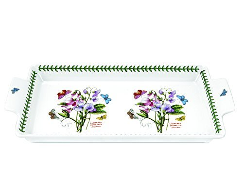 Portmeirion Botanic Garden Sandwich Tray with Handles by Portmeirion (Sandwich Botanic Garden Tray)