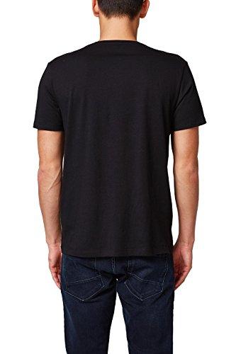 edc by ESPRIT Herren T-Shirt Schwarz (Black 001)