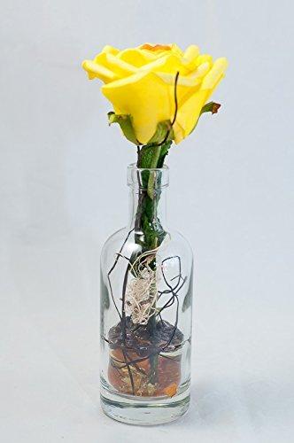 Centro mesa rosa amarilla espuma jarrón - arreglo