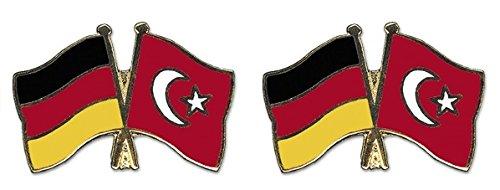 Yantec Freundschaftspin 2er Pack Deutschland Türkei Pin Anstecknadel Doppelflaggenpin