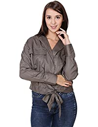 MansiCollections Grey Jacket for Women