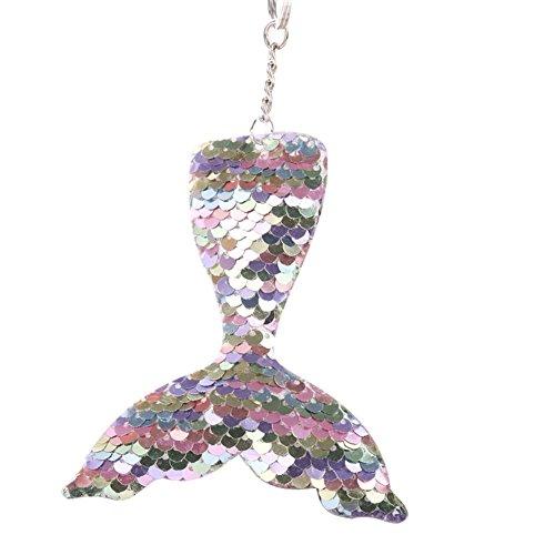 WuWxiuzhzhuo Heißer Verkauf Multicolor Glitter Pailletten Meerjungfrau Schlüsselanhänger Schlüsselanhänger Auto Tasche Anhänger Ornament