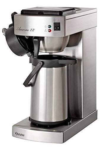 Bartscher Aurora 22 - Cafetera, color plateado
