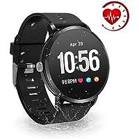 YoYoFit HR Fitness Tracker Watch, 2018 Waterproof Activity Tracker with Heart Rate Blood Pressure Oxygen Monitor, Wearable Smart Bracelet Pedometer Watch for Women Men Kids