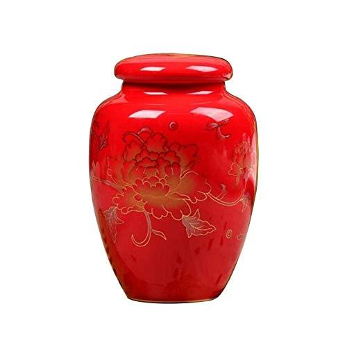 Roll-v Feuerbestattungs-Urnen für Asche Erwachsene Beerdigungs-Urnen zu Hause oder in der Nische am keramischen Sammelbehälter-Urnen-Tee können -