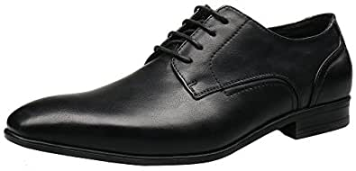 SHENBODerby Shoes - Oxfords Shoes Uomo, Nero (Black), 42.5