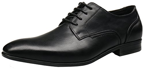 Shenbo Men's Black Classic Dress Shoes (8 UK / 42 EU)