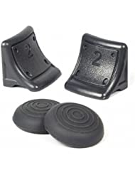 4 en 1 de repuesto Dual disparadores de plástico con Bono Gorro Silicona Set de piezas de controlador de juegos inalámbrico PS3