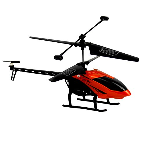 TRENDWERT® RC Infrarot Gyro Helikopter Discover 22cm 3.5-Kanal Indoor Hubschrauber elektrisch ferngesteuert mit Fernbedienung zum fliegen und Gyroskop (Orange)