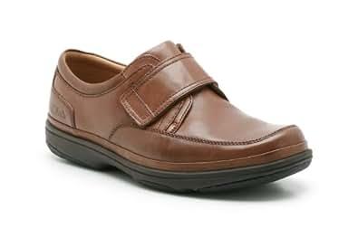 Clarks Swift De Mens Chaussures Tourner En Cuir Acajou UK7 Mahogany