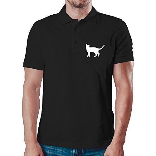 Eddany Cheetoh silhouette Polo-Hemd - Cheetoh Katzen