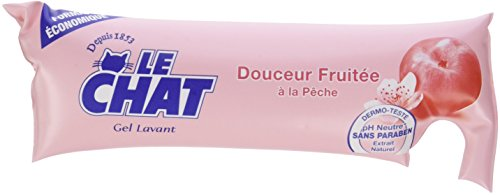 Le Chat - Gel Lavant - Douceur Fruitée à la Pêche - Berlingot 250 ml - Lot de 6