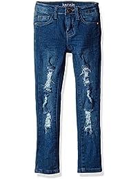 Kensie Girls' Capri Denim Pant with Lace Trim