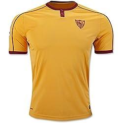 20162017Sevilla FC Vicente Iborra Daniel Carrico Nicolas pareja el tercer Away fútbol fútbol Jersey en amarillo, hombre, amarillo, large
