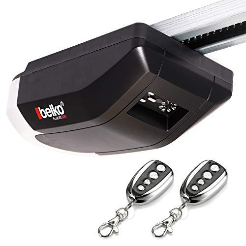 Belko Garagentorantrieb EcoLift 800 für Schwing- & Roll-Tore bis 12m², inkl. 2 Fernbedienungen 433 Mhz, Kraft 800 N, Notentriegelung, Softstart-/Softstopp-Automatik, LED, Zyklenalarm uvm.