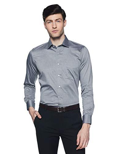 Van Heusen Men's Solid Slim Fit Formal Shirt (VHSFBSLPC76524_Grey_42)