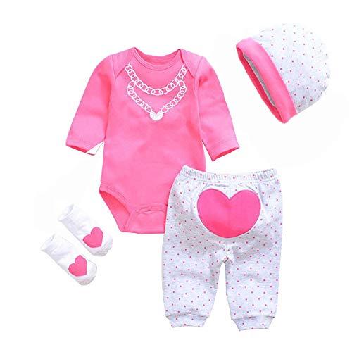 LLX Mode Nouveau-né Vêtements Bébé Reborn Bébé Fille Vêtements De Poupée pour 20-22 Pouces 50-55 Cm Poupée Cadeaux,D