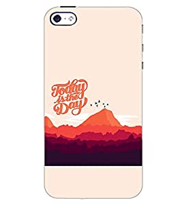 PrintDhaba QUOTE D-7014 Back Case Cover for APPLE IPHONE 4S (Multi-Coloured)