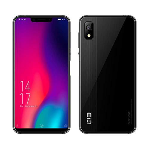 Smartphone Elephone A4 Pro Dual-SIM 4 GB RAM+ 64 GB ROM Ohne Vertrag 5,8-Zoll-4G-Handy mit vollem Bildschirm (19:9 und Ganzglasverhältnis) Android 8.1 MT6763 Octa-Kern 2,0 GHz (A4 Pro, Schwarz)