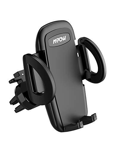 Mpow Handyhalterung Auto Lüftung,Lüftung AutoHandyhalterung,3 einstellbare Modi KFZ Smartphone Halterung Lüftung,Voller Silikonschutz,EIN-Knopf-Schlüsselfreigabe,Handyhalter fürs Auto für All handys