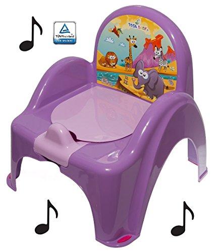 Topf de Toilette Musical für Baby Kinder Sessel Stuhl Tiermotiv Safari Farbe Violett