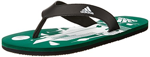 adidas Men's Beach Print Max Out Men Corgrn, Cblack and Ftwwht Flip-Flops and House Slippers - 8 UK/India (42 EU)
