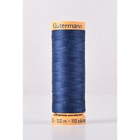 Gutermann cotone naturale 100m Quilting macchina da cucire per cucire blu–5322 - Naturale Di Cotone Per Cucire
