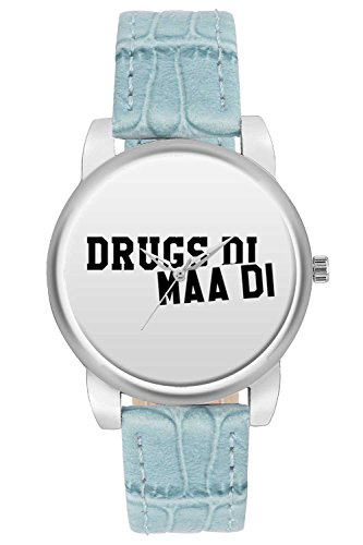 Women's Watch, BigOwl Drugs Di Maa Typography Designer Analog Wrist Watch For Women - Gifts for her dials