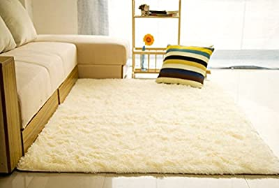 Hangnuo Anti-skid Living Room Soft Carpets Floor Mat Shaggy Area Rug 80x120cm(2.6x3.9ft) produced by HANGNUO - quick delivery from UK.