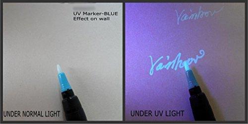 Permanent UV Marker in pink, neon oder blau (jetzt auch in weiß & wasserfest), NUR UNTER / MIT UV - LICHT SICHTBAR!!! (blau)