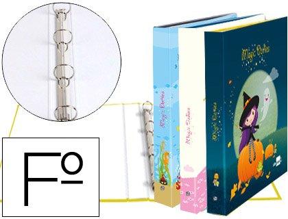 Liderpapel Ordner, 4Ringe 25mm Runde Carton gefüttert Folio Fantasia Magic Dollies (Fantasy-dolly)