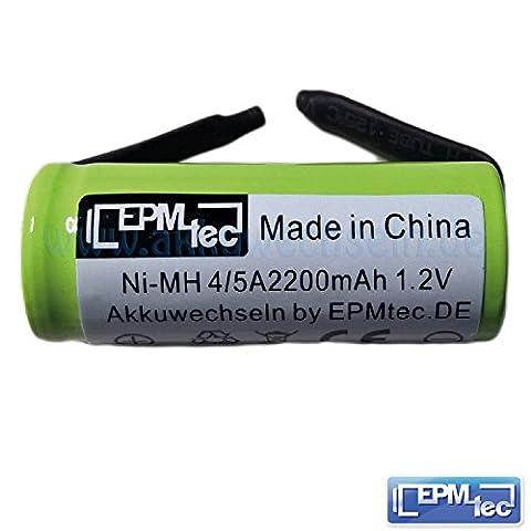2400 mAh (typisch) NiMH Ersatzakku für alle OralB Triumph 450 500 550 4000 5000 5500 6500 6000 6500 7000 8000 8300 8500 8900 9000 9400 9500 9900 - Batterie Battery Akku Replacement (42mm x 17 mm 2.4Ah)