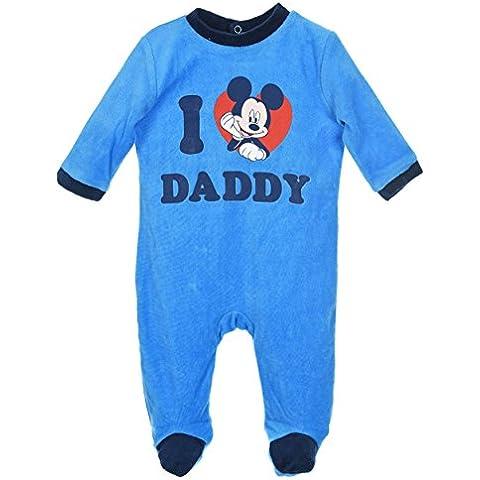 Pigiamino 2 pezzi Mickey 'I love Daddy'blu