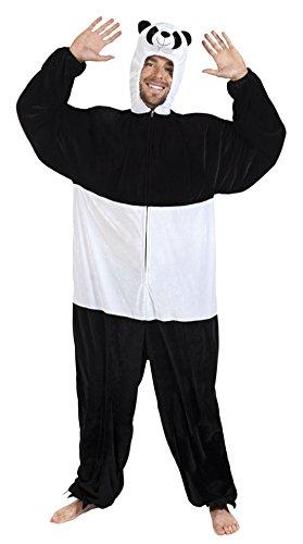änner Motto-Party Karneval Kostüm Plüsch Panda Bär, Onesie, Komplett-Jumpsuit, One Size, Schwarz (Panda Kostüm Männer)