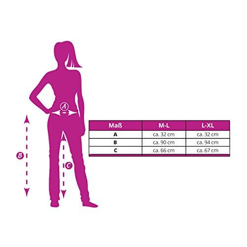 Damen Bunte Leggins für jeden Tag I Sexy bedruckte Leggings mit Muster oder Motiv I lange Sporthose für Yoga Zumba Gym Fitness Workout (M-L & L-XL) Blau KY376