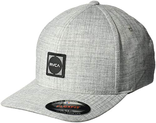 RVCA Herren Flexfit Scores HAT Baseball Cap, grau meliert, Small/Medium - Rvca Baseball
