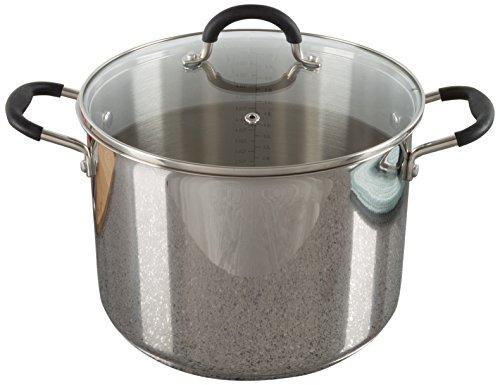 Classic Cuisine Edelstahl-Topf mit Deckel, geeignet für Elektro-, Gas-, Induktions- oder Gaskochfelder 8 Quart Stock Pot Large edelstahl 8 Quart Stock Pot