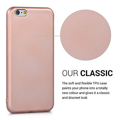 kwmobile Étui en TPU silicone élégant pour Apple iPhone 6 / 6S en rose ancien mat .or rose métallique