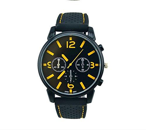YARBAR Corsa Fashion Designer Militari Orologi giallo orologio da polso orologio sportivo