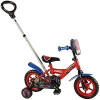 """Spider-Man Bici per Bambini, Colore Rosso, 10"""", Volare41054"""
