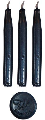 Preisvergleich Produktbild NAVY blau Traditioneller Siegelwachs von Waterstons 100mm lang mit Docht X 3