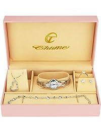 1b103301cdac Caja de Regalo Reloj Mujer - Juegos de Joyas- Collar-Anillo- Pendientes