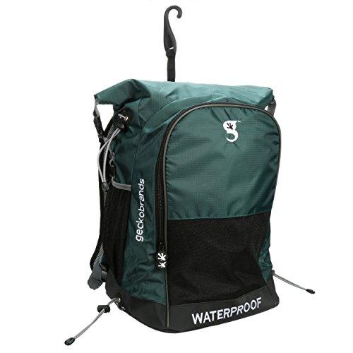geckobrands Wasserdicht Alle Sport Rucksack, Unisex, GDP-SSWBP-HG, Hunter Green/Grey Hunter Green-rucksack