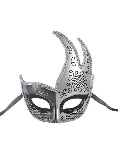 TAAMBAB Herren Maskerade Maske Phantom Oper Half Face Paar Masken Vintage Gebrochene Venezianische Party Halloween Karneval Maske für Burlesque Ball Kostüm Cosplay Party Veranstaltungen Nachtclub