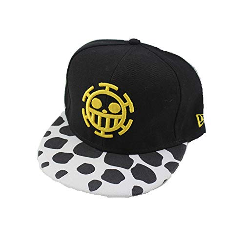 Zhixuan One Piece Anime Men and Women Hip-Hop Flat Along Baseball Cap Skateboard Hip-Hop Hat Summer Hat