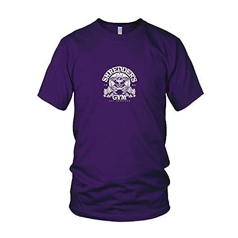 Shredder's Gym - Herren T-Shirt, Größe: M, Farbe: lila (Shredder Schildkröten Kostüm)