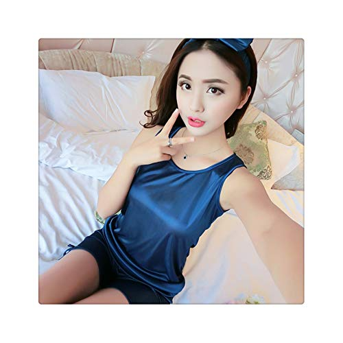 FJLOKE& Long Sleeved Ladies Pajamas Set Cotton Pyjamas for Women Pijama Mujer Floral Print Sleepwear Homewear Nightgown Asia/Tag S-XXL Duan Navy Blue L (S Secret-models Halloween Victoria)