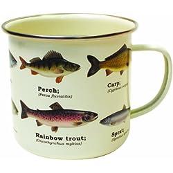 Ecologie - Taza esmaltada, diseño de peces