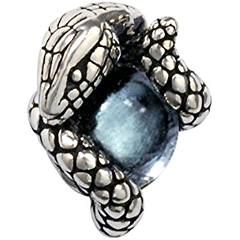 ZWX chiodo di fungo bianco degli uomini/Moda europea enucleare la pietra serpente Stud Earrings/ fungo (Pietra Amethyst Silver Ring)
