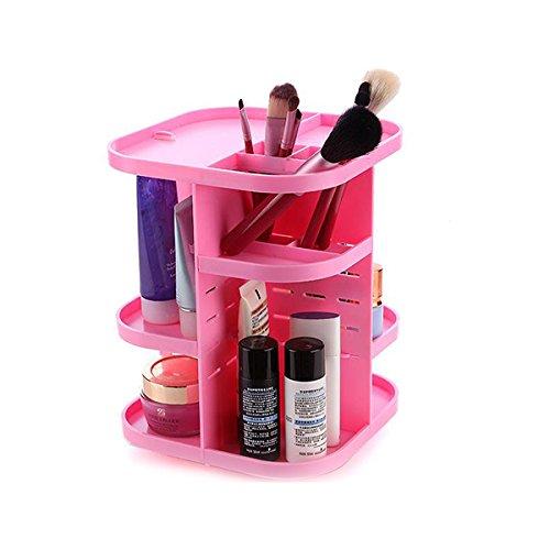 Pixnor Mode créative acrylique rotatif de maquillage cosmétiques bijoux affichage boîte affaire organisateur de stockage